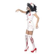 zombie dam halloween kostym